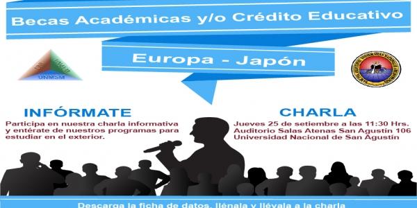 Charla Informativa: Becas Académicas y/o Crédito Educativo - Universidad Nacional de San Agustín