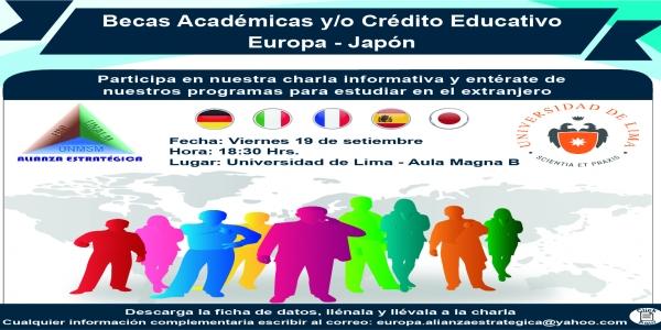 Charla Informativa: Becas Académicas y/o Crédito Educativo - Universidad de Lima