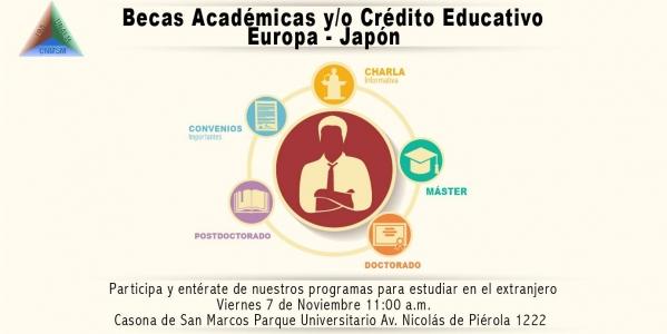 Charla Informativa: Becas Académicas y/o Crédito Educativo - Casona de San Marcos