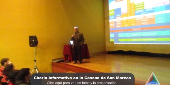 Fotos y Presentación: Charla Informativa en la Casona de San Marcos -